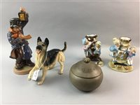 Lot 28-A SHORTER & SON LIDDED DISH, ROYAL DOULTON ALSATIAN AND OTHER DECORATIVE CERAMICS