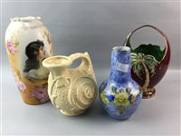 Lot 26-A VICTORIAN JUG AND JAPANESE IMARI BOWL AND OTHER CERAMICS