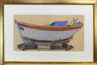Lot 522-BOAT, DRY ROCK, SITIA, CRETE, A PASTEL BY GLEN SCOULLER