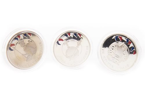Lot 634-THREE SILVER PROOF COINS