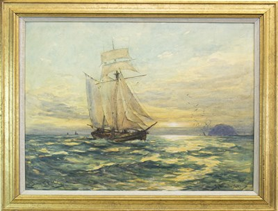 Lot 402-IN FROM THE WESTERLY, A WATERCOLOUR BY JAMES MCMASTER