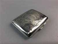 Lot 5-A GEORGE V SILVER CIGARETTE CASE