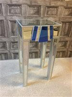Lot 1633-AN ART DECO MIRRORED GLASS TABLE