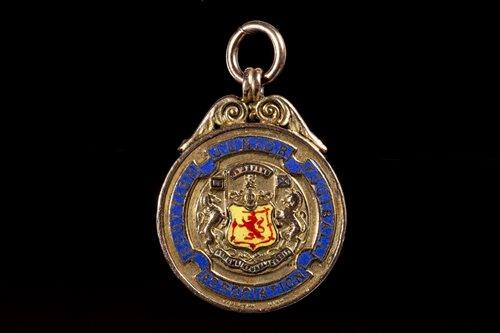 Lot 1980-SCOTTISH JUNIOR FOOTBALL ASSOCIATION WINNERS GOLD MEDAL 1934
