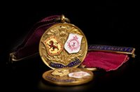 Lot 1991-TWO EARLY 20TH CENTURY THIRD LANARK F.C. MEDALS