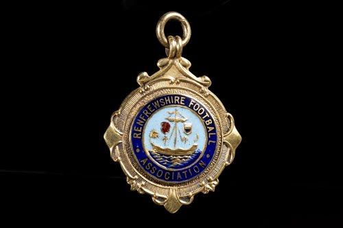 Lot 1908-TOMMY GEMMELL OF ST MIRREN F.C., HIS 1959 RENFREWSHIRE CUP WINNERS MEDAL