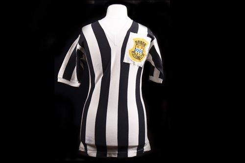 Lot 1911-TOMMY GEMMELL OF ST MIRREN F.C., HIS JERSEY WORN IN 1959 SCOTTISH CUP FINAL