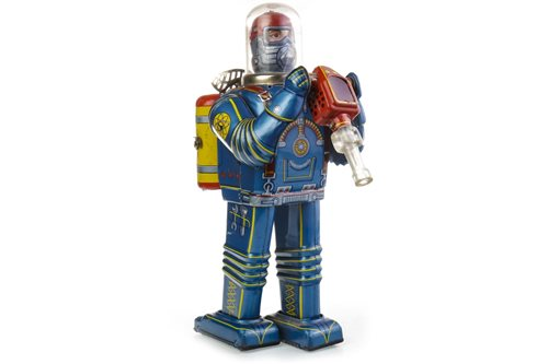 Lot 1636-A RARE JAPANESE DAIYA 1950S BATTERY POWERED TIN PLATE SPACEMAN