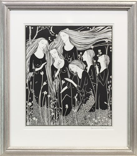 Lot 561-GARDEN, A LITHOGRAPH BY HANNAH FRANK