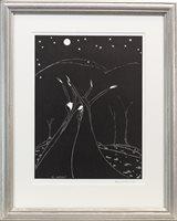 Lot 562 - MOON BALLET, A LITHOGRAPH BY HANNAH FRANK