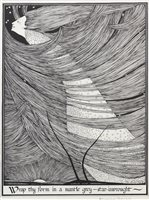 Lot 563 - WRAP THY FORM IN A MANTLE GREY, A LITHOGRAPH BY HANNAH FRANK