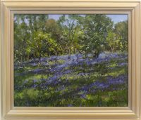 Lot 552-FIELDS OF LAVENDER, AN OIL BY JD HENDERSON