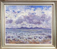 Lot 553-ISLE OF ARRAN, AN OIL BY J D HENDERSON