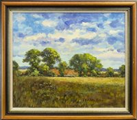 Lot 554-FIELDS OF GOLD, AN OIL BY J D HENDERSON