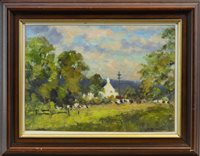 Lot 556-THE WHITE HOUSE, FENWICK, AN OIL BY J D HENDERSON