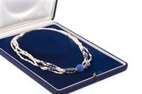 Lot 185-A PEARL AND LAPIS LAZULI PEARL NECKLACE