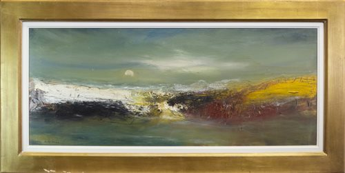 Lot 616 - LANDSCAPE, AN OIL BY NAEL HANNA