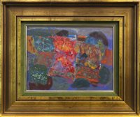 Lot 617 - PATCHWORK LANDSCAPE, AN OIL BY JOHN BYRNE