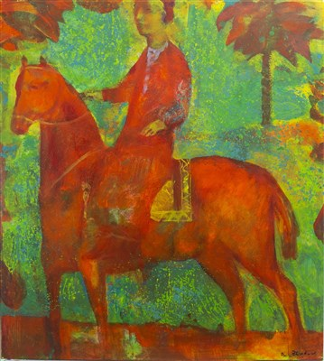 Lot 618-RED RIDER, AN OIL BY ANDREI BLUDOV