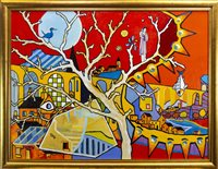 Lot 570-THE CINNAMON TREE, AN OIL BY IAIN CARBY