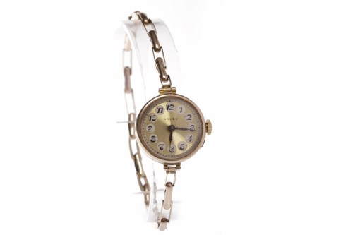 Lot 794-LADY'S TWENTIETH CENTURY ROLEX NINE CARAT GOLD...