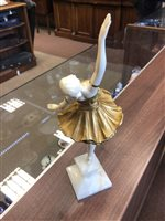 Lot 1603-A GILDED BRONZE AND IVORY FIGURE BY LOUIS SOSSON