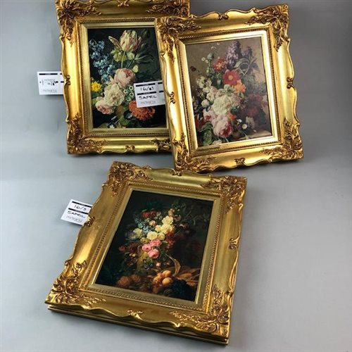 Lot 16-THREE OVERPAINTED PRINTS AFTER JAN FRANS VAN DAEL AND MOISE JACOBBER
