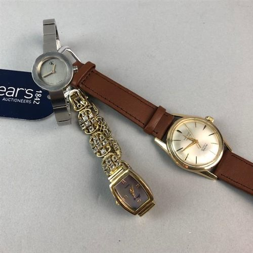 Lot 23-A TRIDENT WRIST WATCH AND TWO OTHER WRIST WATCHES