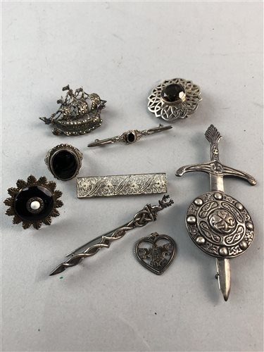 Lot 25-A DAVID ANDERSEN BROOCH AND OTHER BROOCHES