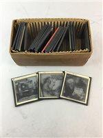 Lot 35-A BOX OF VICTORIAN GLASS LANTERN SLIDES
