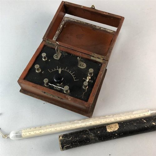 Lot 36-A VINTAGE VOLT METER AND A SCALE THERMOMETER