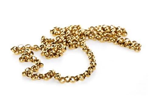 Lot 10-A NINE CARAT GOLD CHAIN NECKLACE