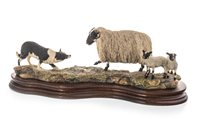 Lot 1262-A BORDER FINE ARTS FIGURE GROUP OF BLACK FACED EWE AND COLLIE BY RAY AYRES