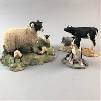 Lot 72-A BORDER FINE ARTS FIGURE GROUP OF SPRING LAMBING AND TWO OTHER FIGURE GROUPS