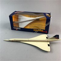 Lot 76-A CORGI MODEL FIGURE OF CONCORDE AND ANOTHER