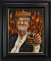 Lot 580-THE DEMON DRINK, AN OIL BY GRAHAM MCKEAN