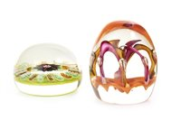 Lot 1266 - A LOT OF TWO PAUL YSART HARLAND PAPERWEIGHTS