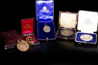 Lot 1933-FIVE VICTORIAN AND EARLY 20TH CENTURY MEDALS