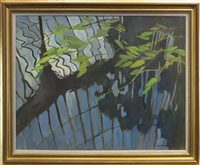 Lot 703 - BOTANICAL REFLECTIONS, AN OIL BY JEAN GARDNER