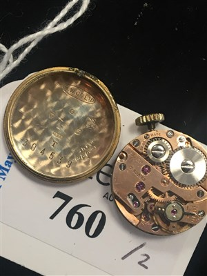 Lot 760-A LADY'S TUDOR GOLD WRIST WATCH AND ANOTHER