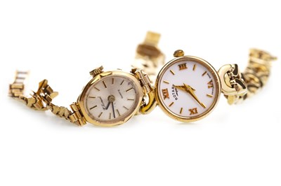 Lot 761-TWO LADY'S GOLD WATCHES
