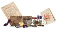 Lot 1651-A COLLECTION OF WWI AND WWII MEDALS