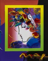 Lot 723 - BLUSHING BEAUTY ON BLENDS, A MIXED MEDIA BY PETER MAX