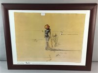 Lot 51-A PRINT AFTER SALVADOR DALI, (FEMALE FIGURE WITH HEAD OF FLOWERS)