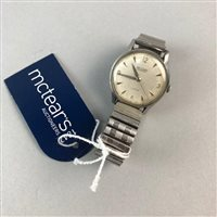 Lot 5-A GENTLEMAN'S RECORD GENEVE STAINLESS STEEL WRISTWATCH
