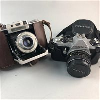 Lot 58-A VINTAGE AGIFOLD CAMERA AND ANOTHER CAMERA