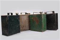 Lot 14-FOUR ESSO AND OTHER PETROL CANS