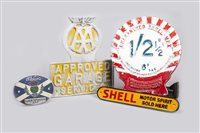 Lot 17-AA, SHELL AND OTHER GARAGE SIGNS (4)