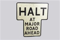 Lot 27-HALT SIGN