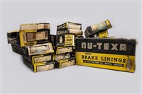 Lot 43-COLLECTION OF BOXED NU-TEXA BRAKE LININGS